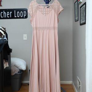 Torrid Lace Yoke Jersey Maxi Dress Sz 2x